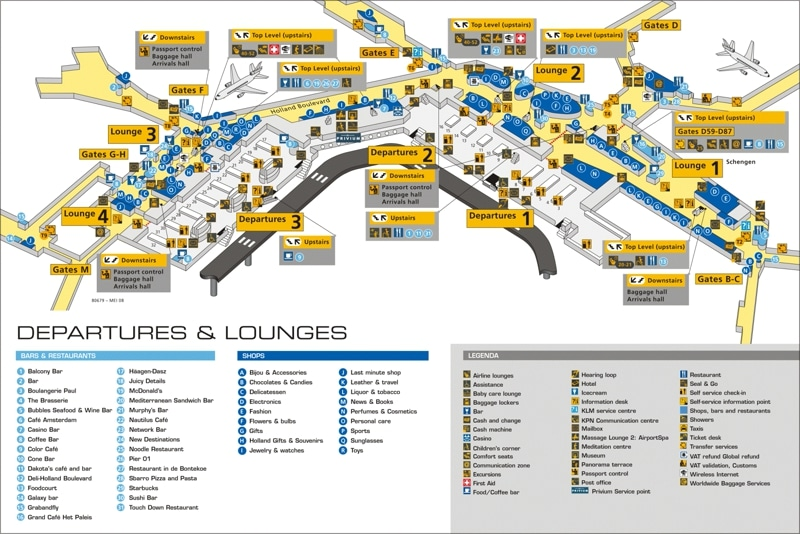 схема терминалов аэропорта Мадрида