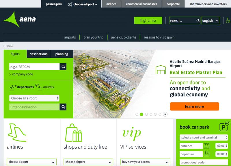официальный сайт аэропорта Мадрида Барахас