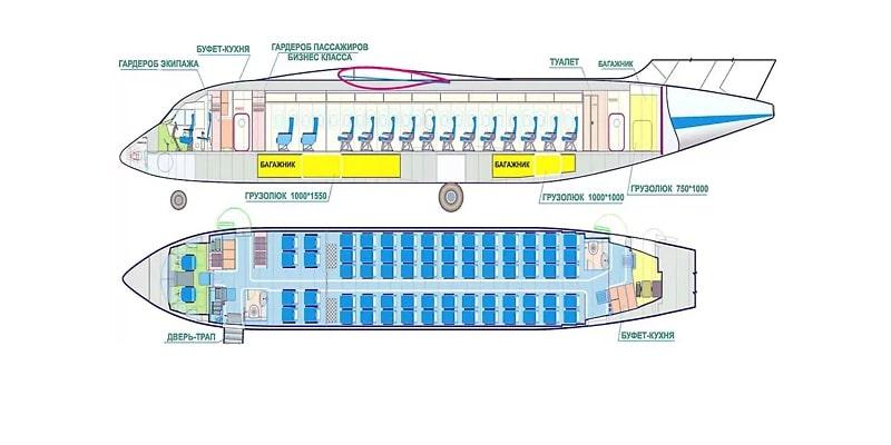 Схема салона и лучшие места
